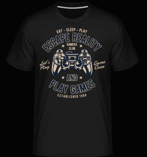 Escape Reality -  Shirtinator tričko pro pány - Černá - Napřed