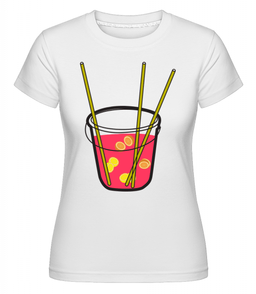 Sangria -  Shirtinator Women's T-Shirt - White - Vorn