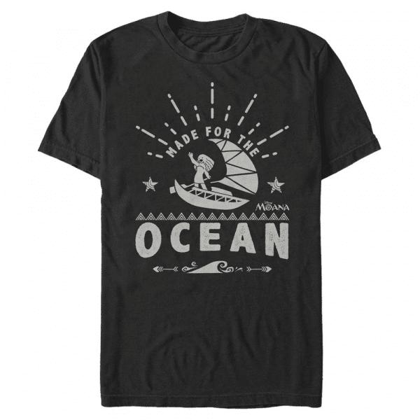 Made for the Ocean Group Shot - Pixar Moana - Men's T-Shirt - Black - Front