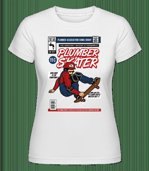 Plumber Skater -  Shirtinator Women's T-Shirt - White - Front