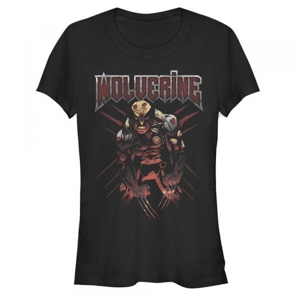 Sick Wolverine - Marvel X-Men - Women's T-Shirt - Black - Front