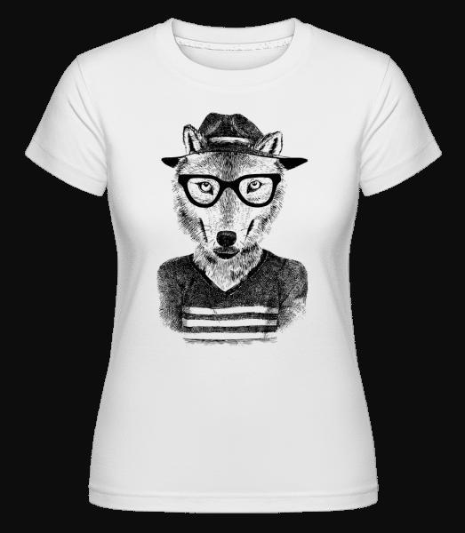 Hipster Fuchs - Shirtinator Frauen T-Shirt - Weiß - Vorn