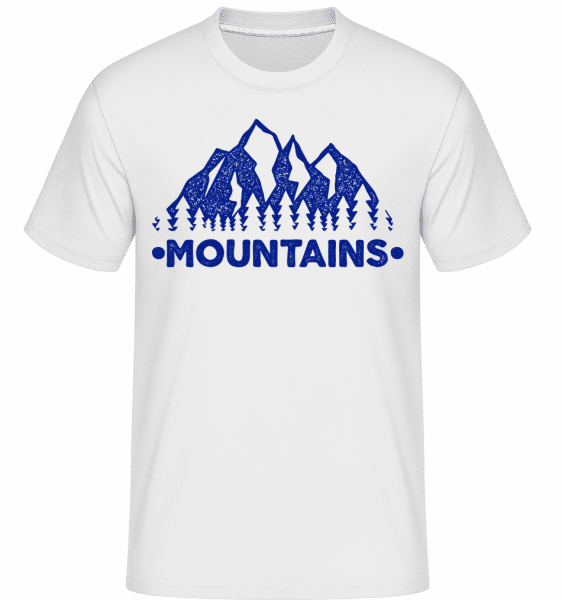 Mountains -  Shirtinator Men's T-Shirt - White - Front