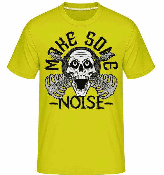 Make Some Noise -  Shirtinator Men's T-Shirt - Lime - Vorn