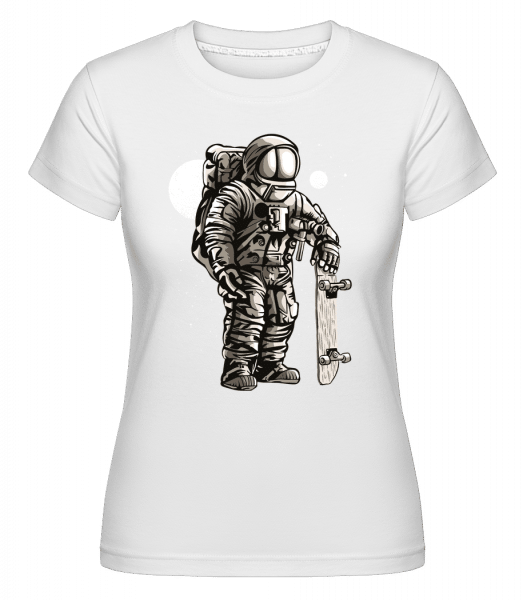 Astronaut Skater -  Shirtinator Women's T-Shirt - White - Vorn