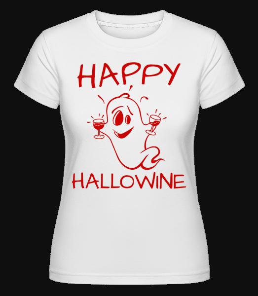 Happy Halloween Ghost -  T-shirt Shirtinator femme - Blanc - Devant