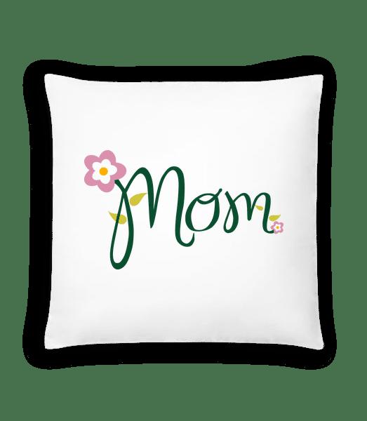 Mom Blume - Kissen - Weiß - Vorn