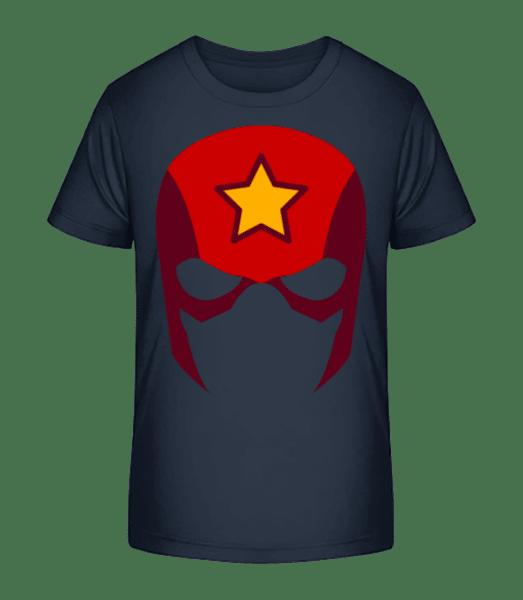 Superhero Icon - Kid's Premium Bio T-Shirt - Navy - Front