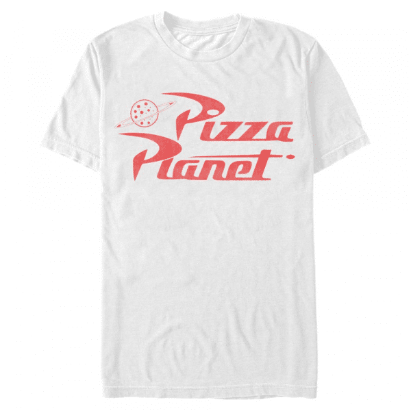 Pizza Planet - Pixar Toy Story 1-3 - Men's T-Shirt - White - Front