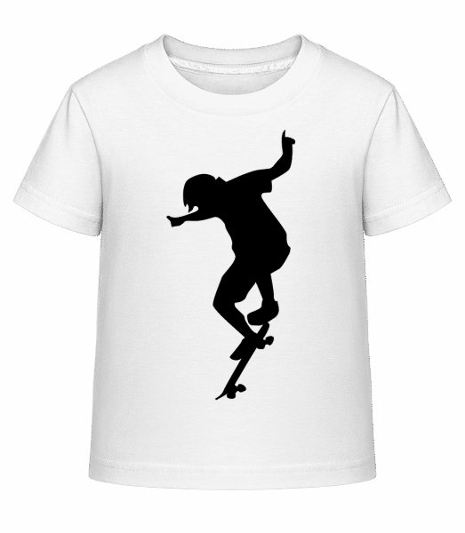 Skater Boy - Kid's Shirtinator T-Shirt - White - Vorn