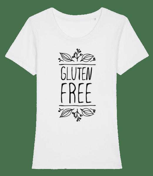Gluten Free - Women's Premium Organic T-Shirt Stanley Stella - White - Front