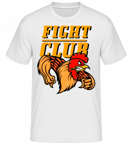 Fight Club Rooster -  T-Shirt Shirtinator homme - Blanc - Vorn
