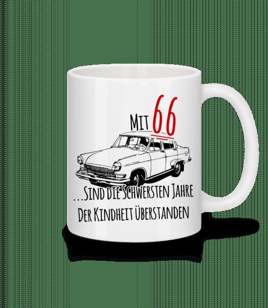 Mit 66 Jahren - Tasse - Weiß - Vorn