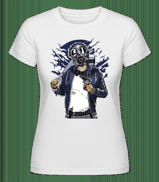Gasmask Bastard -  T-shirt Shirtinator femme - Blanc - Vorn