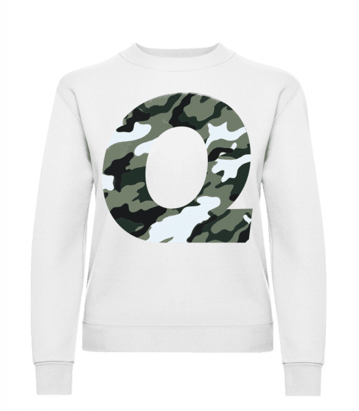 Queen Camouflage - Women's Sweatshirt - White - Vorn
