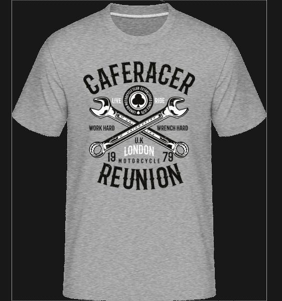 Caferacer Reunion -  Shirtinator Men's T-Shirt - Heather grey - Vorn