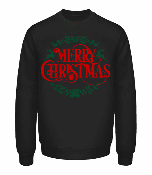 Merry Christmas Label - Sweatshirt Unisexe - Noir - Vorn