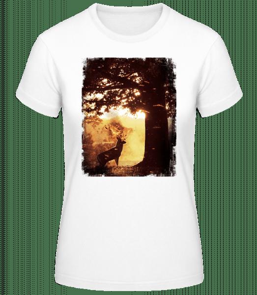 Soleil Cerf - Basic T-Shirt - Weiß - Vorn