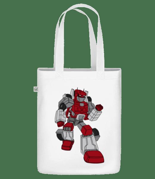 "Car Robot - Organic ""Earth Positive"" tote bag - White - Vorn"