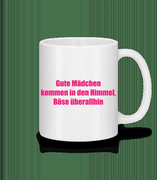 Böse Mädchen - Tasse - Weiß - Vorn