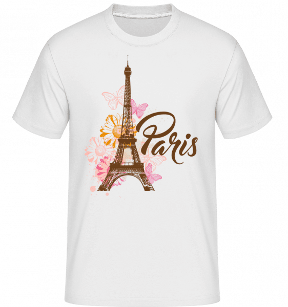 Paris France Brown - Shirtinator Männer T-Shirt - Weiß - Vorn