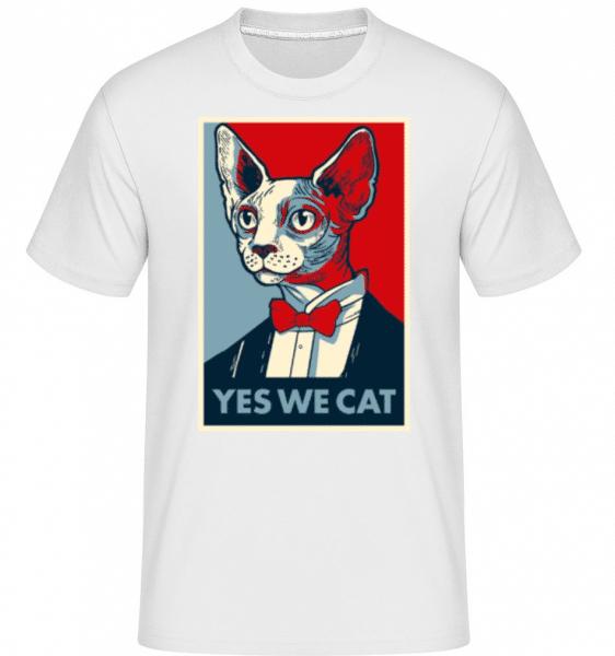 Yes We Cat -  Shirtinator Men's T-Shirt - White - Front