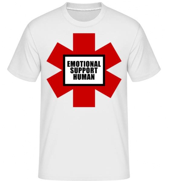 Emotional Support Human -  Shirtinator Men's T-Shirt - White - Front