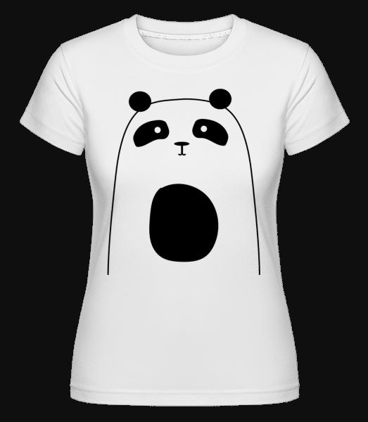 Cute Panda -  Shirtinator Women's T-Shirt - White - Front