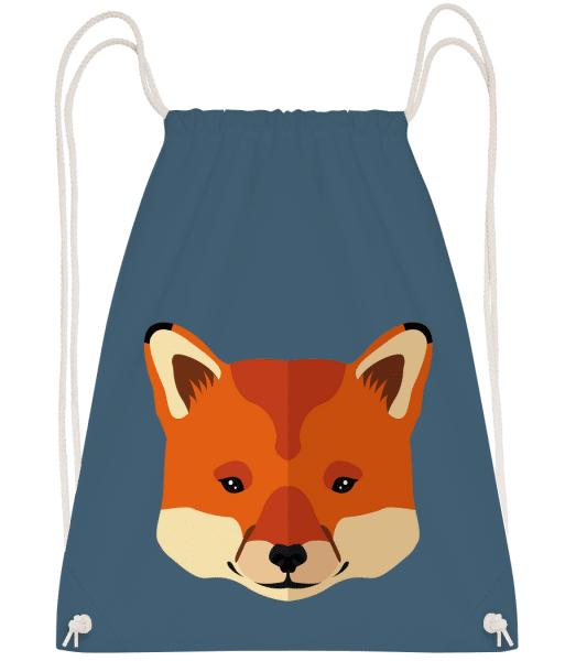Fox Comic - Drawstring Backpack - Navy - Vorn