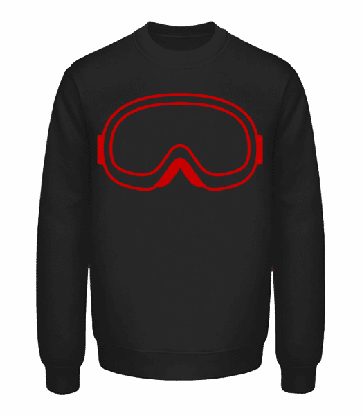 Snowboard Glasses Red - Unisex Sweatshirt - Black - Vorn