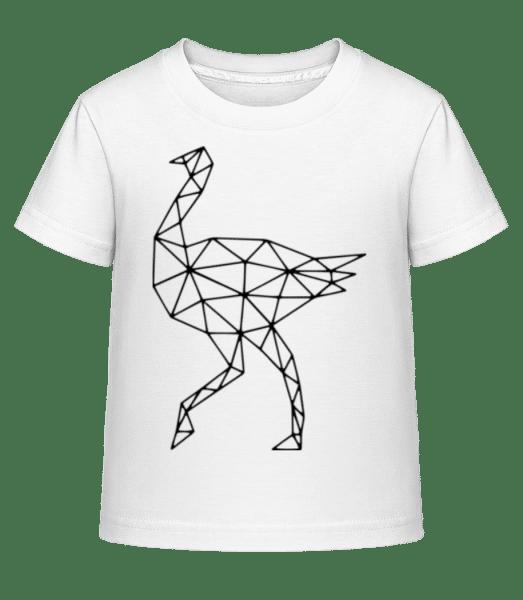 Polygon Autruche - T-shirt shirtinator Enfant - Blanc - Vorn
