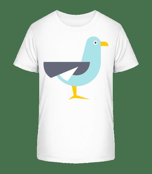 Pigeon Comic - Kid's Premium Bio T-Shirt - White - Front