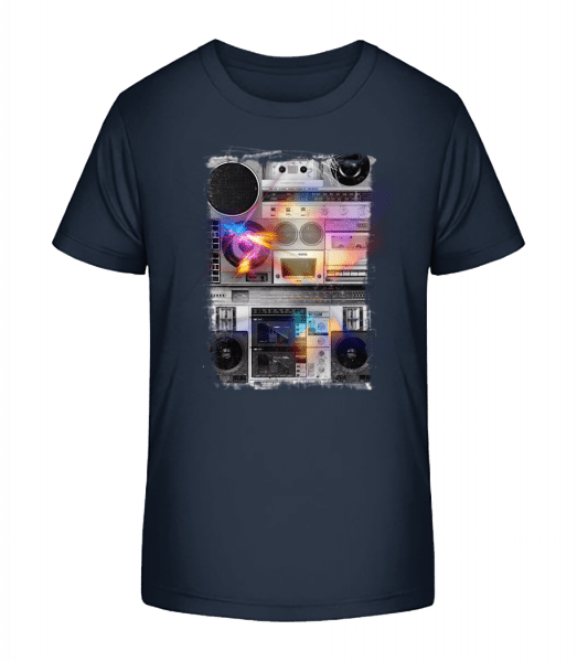 Ghettoblaster - Kid's Premium Bio T-Shirt - Navy - Front