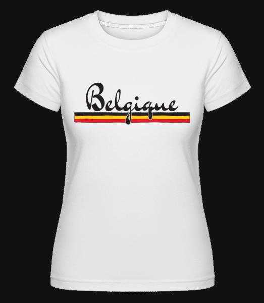 Football Belgium -  Shirtinator Women's T-Shirt - White - Vorn