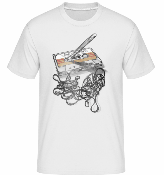 Old School Cassette -  Shirtinator Men's T-Shirt - White - Vorn