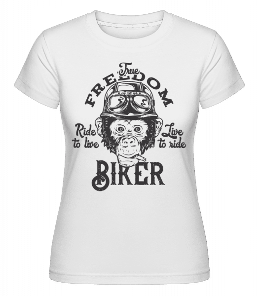 The Freedom Biker -  Shirtinator Women's T-Shirt - White - Vorn