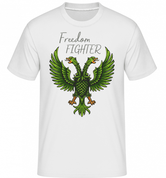 Fight For Freedom -  Shirtinator Men's T-Shirt - White - Front