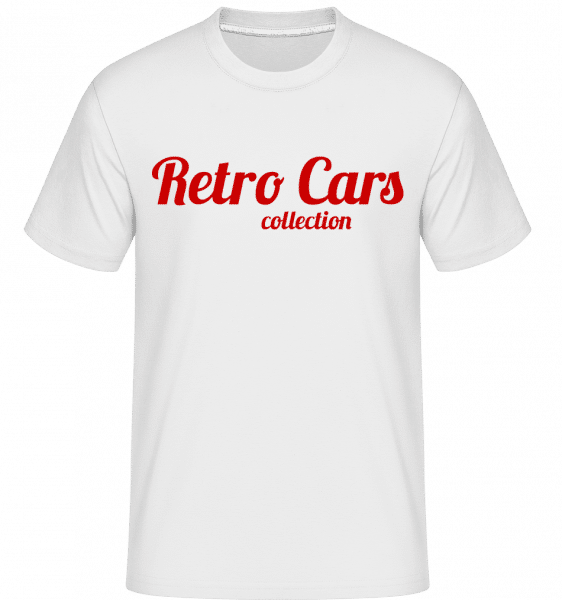 Retro Cars Collection -  Shirtinator tričko pre pánov - Biela - Predné