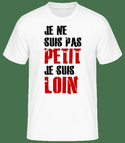 Je Ne Suis Pas Petit - T-shirt standard Homme - Blanc - Devant