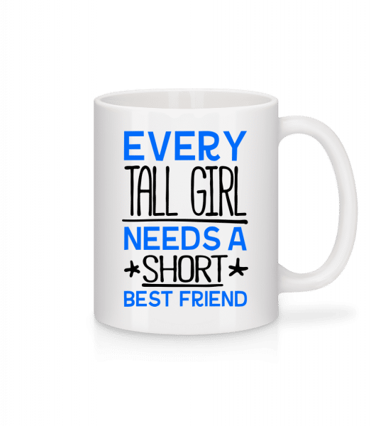 A Short Best Friend - Tasse - Weiß - Vorn