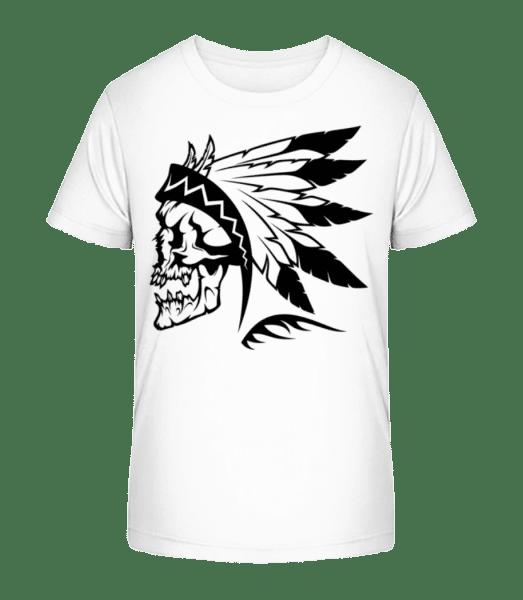 Wild West Skull - Kid's Premium Bio T-Shirt - White - Vorn