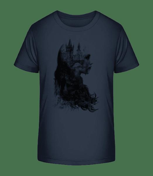 Fantasy City Girl - Kid's Premium Bio T-Shirt - Navy - Vorn