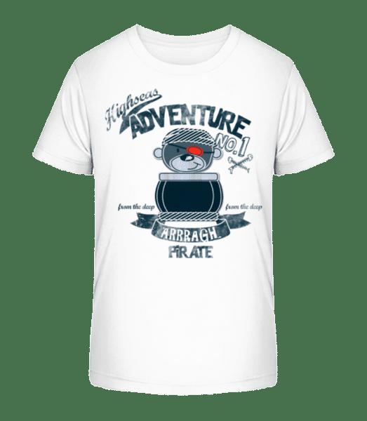 Pirate Teddy Adventure - Kid's Premium Bio T-Shirt - White - Vorn
