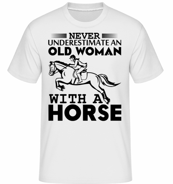 Old Woman With Horse - Shirtinator Männer T-Shirt - Weiß - Vorn