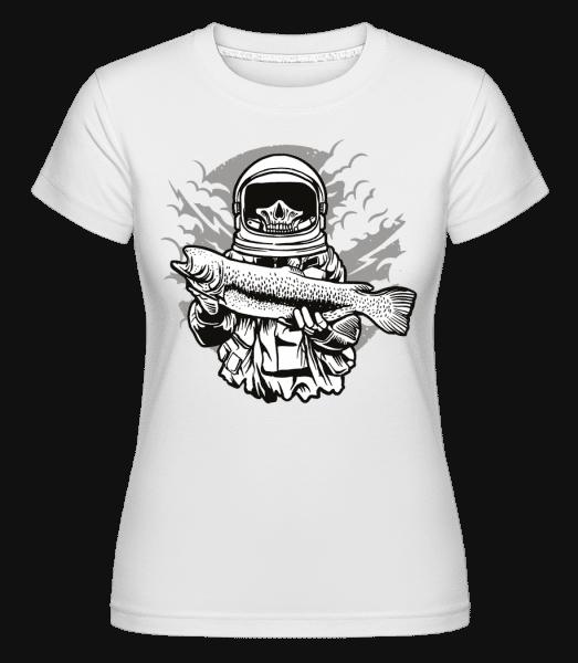 Astronaut Fishing -  Shirtinator Women's T-Shirt - White - Vorn
