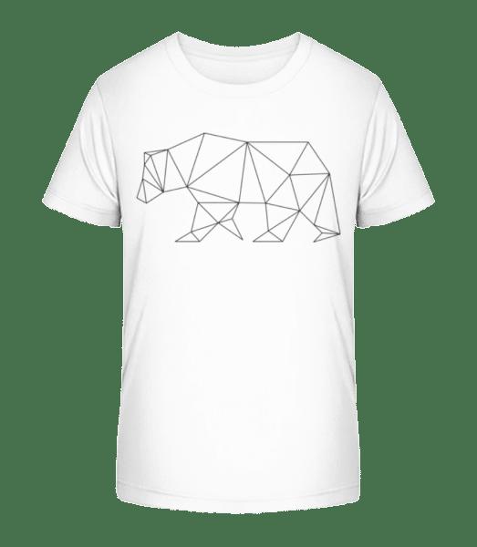 Polygon Bear - Kid's Premium Bio T-Shirt - White - Vorn