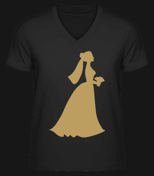 Bride Comic - Men's V-Neck Organic T-Shirt - Black - Vorn