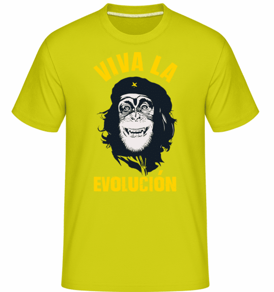Viva La Evolucion -  Shirtinator Men's T-Shirt - Apple green - Vorn
