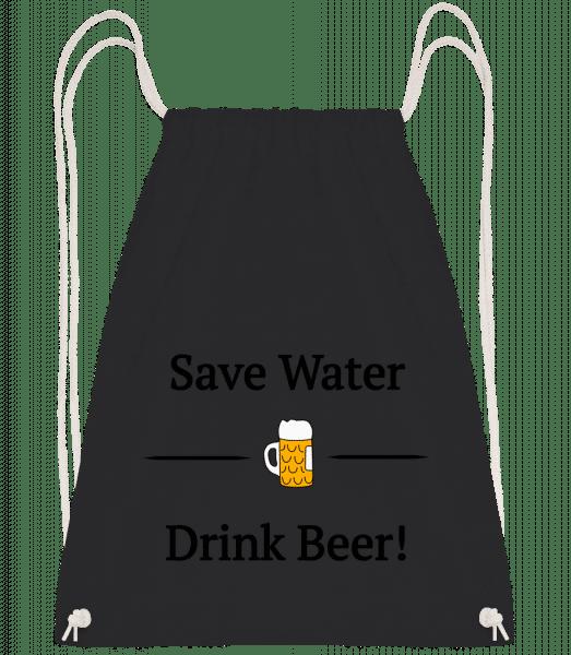 Save Water Drink Bier - Drawstring Backpack - Black - Vorn
