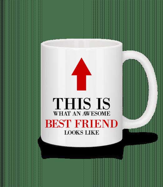 Awesome Best Friend - Mug - White - Vorn